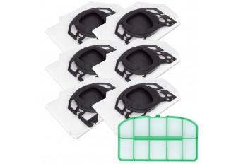 6 Staubsaugerbeutel Filtertüten und 1 Filter passend für Vorwerk Kobold VK 200 FP200