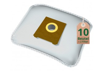 Swyp Staubsaugerbeutel Vlies Filtertüten DISBA BS201m - Inhalt 10 Stück + 2 Filter