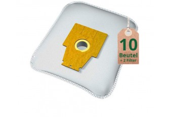 Staubsaugerbeutel Vlies Filtertüten Beutel BS212m - Inhalt 10 Stück + 2 Filter
