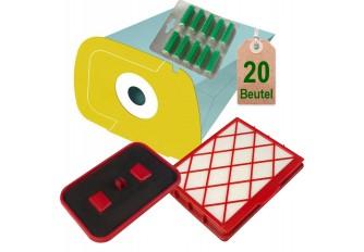 20 Staubsaugerbeutel + Filterset + 20 Duft gelb geeignet für Lux D820 Lux 1