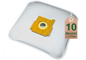 Staubsaugerbeutel Vlies Filtertüten Beutel ZM610m - Inhalt 10 Stück + 2 Filter