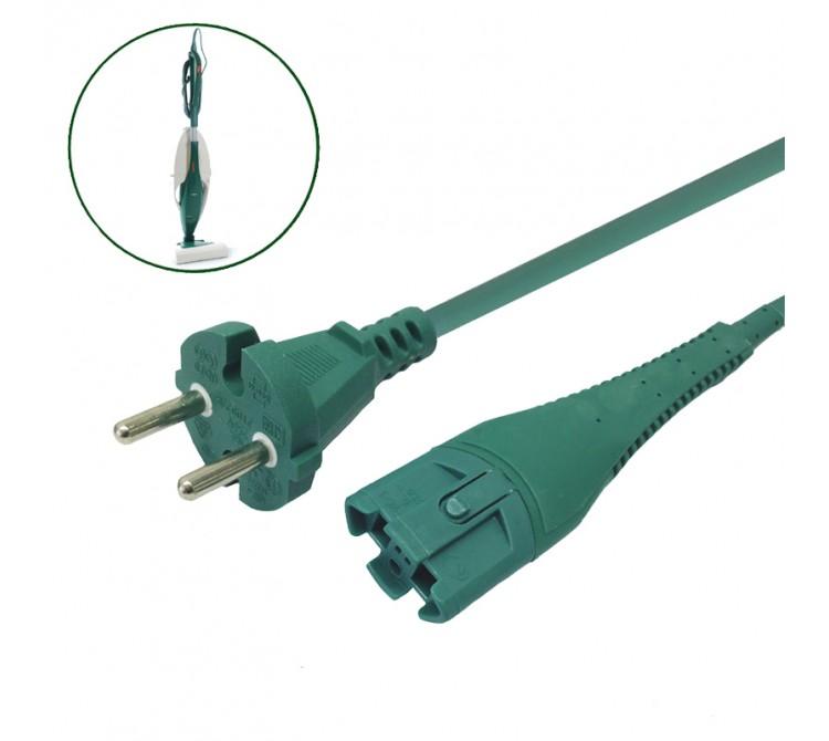 Kabel Stromkabel geeignet für Vorwerk Kobold VK 130 und VK 131 - 10 Meter