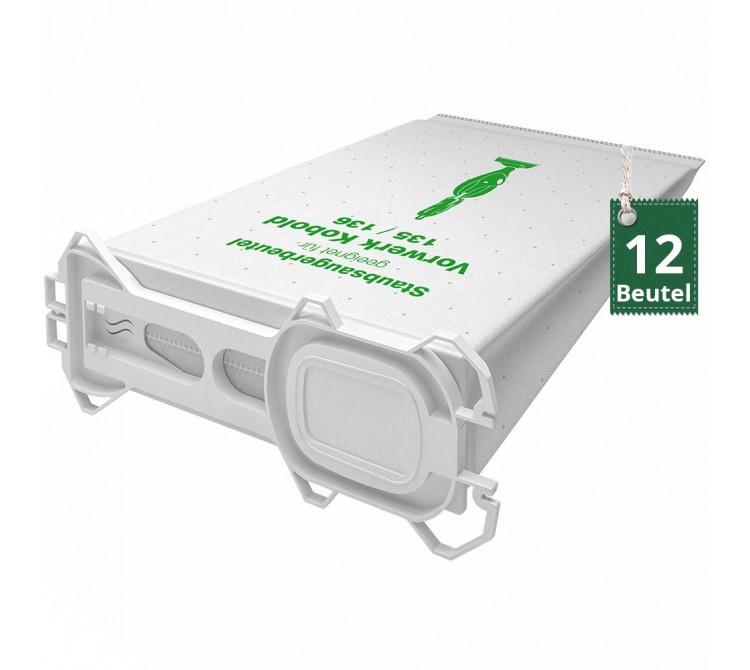 12 Vlies Staubsaugerbeutel Filtertüten geeignet für Vorwerk Kobold VK 135 und VK 136