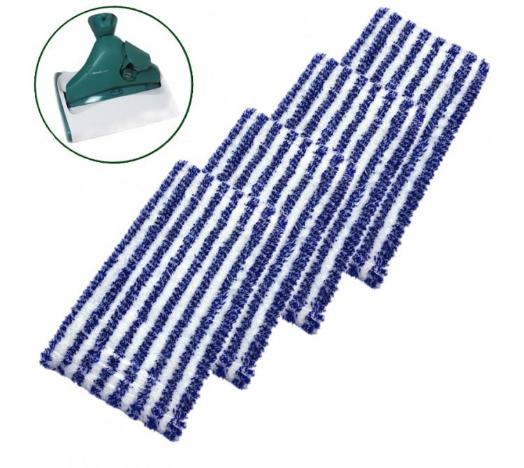 4 Universal Reinigungstücher passend für Vorwerk Hartbodenreiniger SP520 und SP530