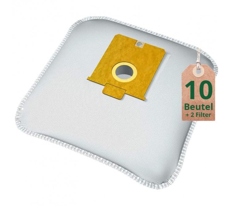 Staubsaugerbeutel Vlies Filtertüten Beutel AE404m - Inhalt 10 Stück + 2 Filter