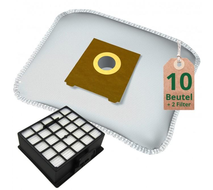 10 Staubsaugerbeutel Filtertüten + Hepa Filter geeignet für Bosch Siemens uva.