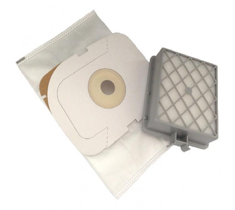 5 Staubsaugerbeutel Filtertüten passend für Lux Intelligence mit Hepa Filter Langzeitfilter