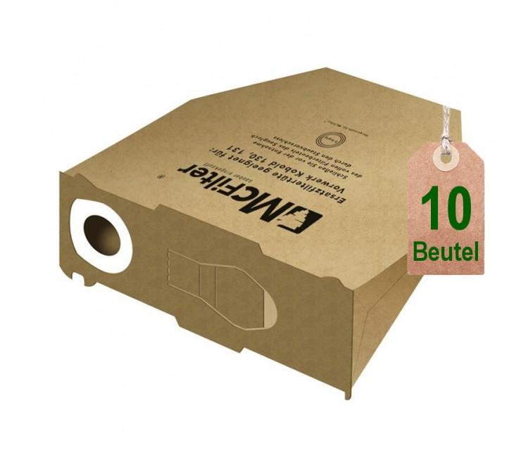 10 staubsaugerbeutel filtert ten geeignet f r vorwerk kobold vk 130 und vk 131 saugerservice. Black Bedroom Furniture Sets. Home Design Ideas