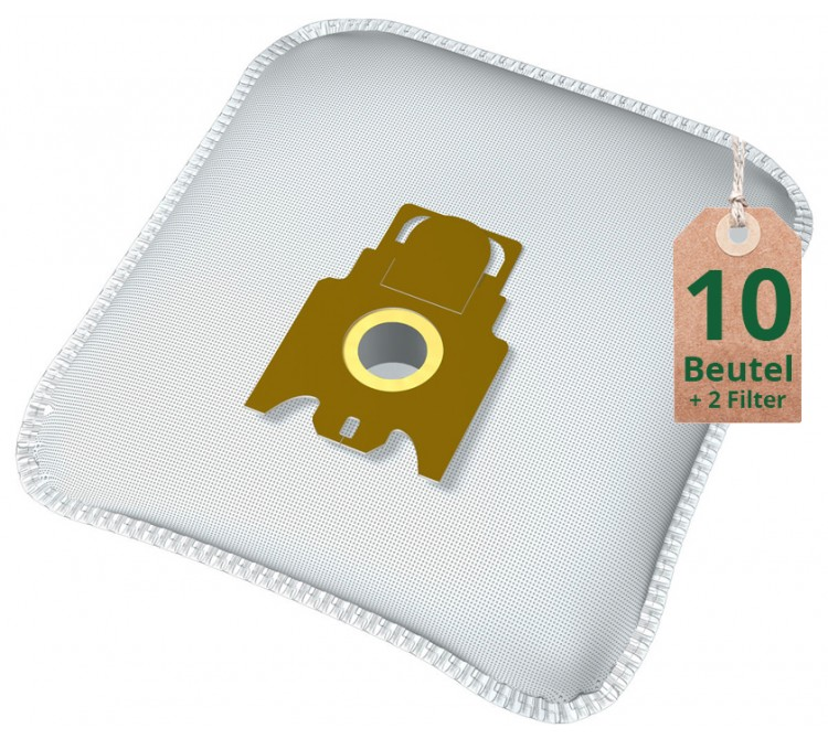 Swyp Vlies Staubsaugerbeutel Filtertüten DISBA MI14m - Inhalt 10 Stück + 2 Filter