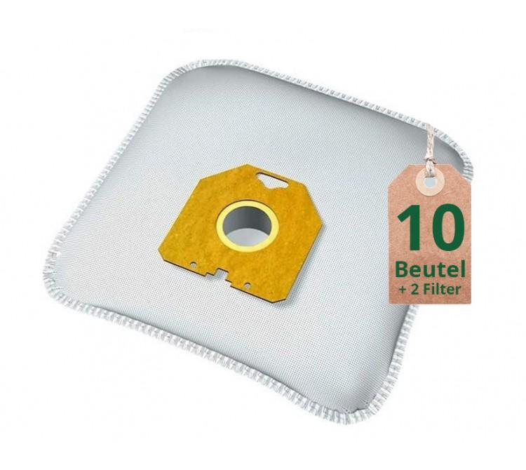 Swyp Vlies Staubsaugerbeutel Filtertüten DISBA P102m - Inhalt 10 Stück + 2 Filter