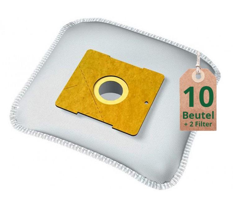 Staubsaugerbeutel Vlies Filtertüten Beutel WD64 - Inhalt 10 Stück + 2 Filter