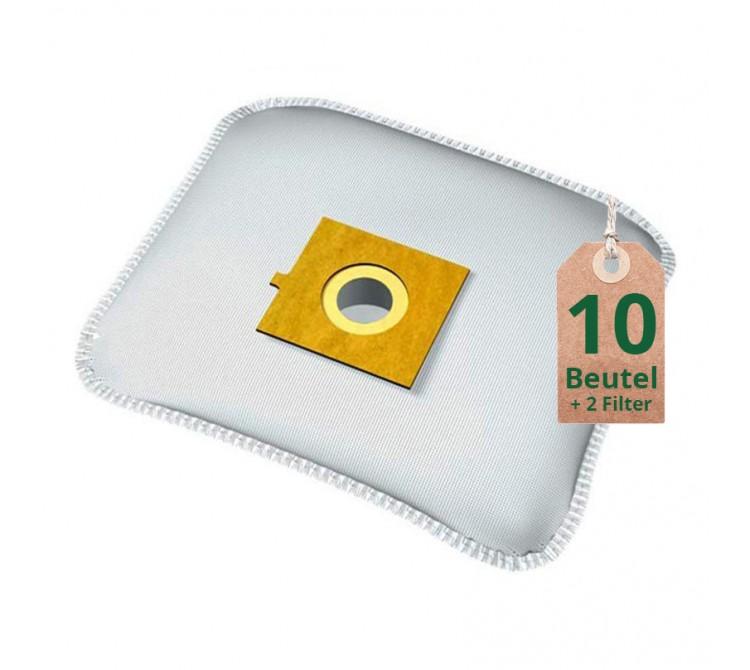 Swyp Vlies Staubsaugerbeutel Filtertüten DISBA XD204m - Inhalt 10 Stück + 2 Filter