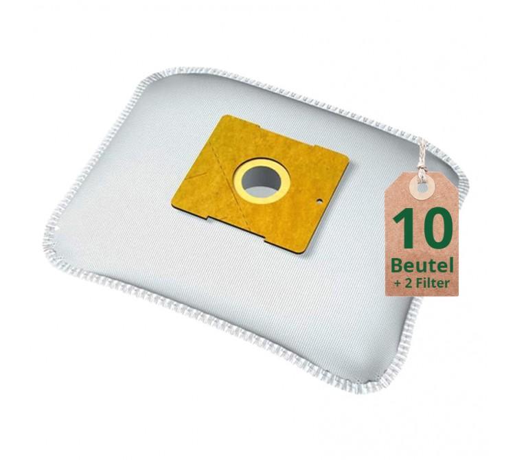 Swyp Vlies Staubsaugerbeutel Filtertüten DISBA XD212m - Inhalt 10 Stück + 2 Filter