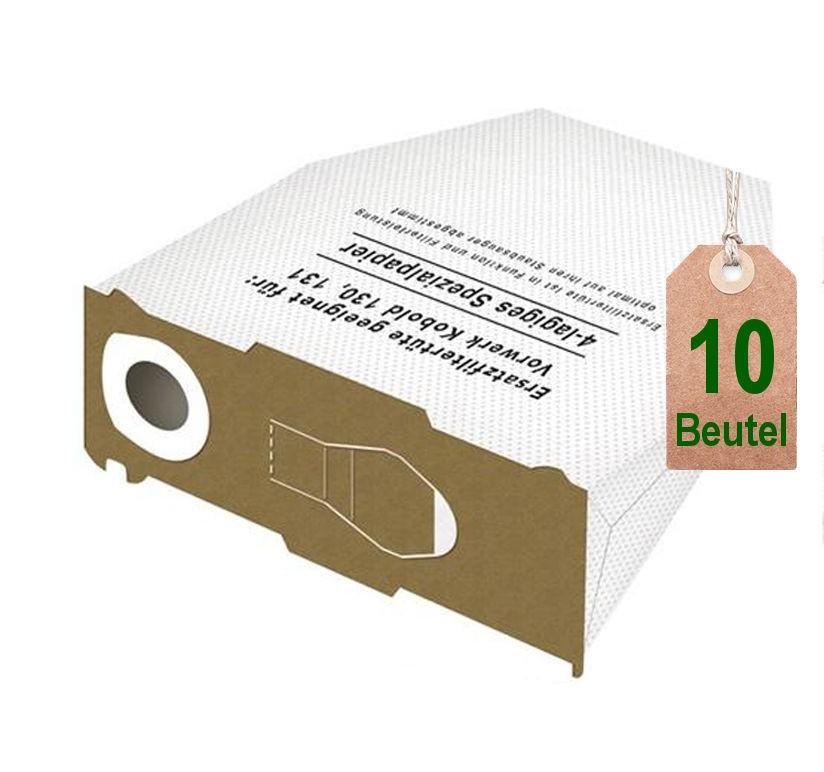 10 staubsaugerbeutel filtert ten wei geeignet f r vorwerk kobold vk 130 131 saugerservice. Black Bedroom Furniture Sets. Home Design Ideas