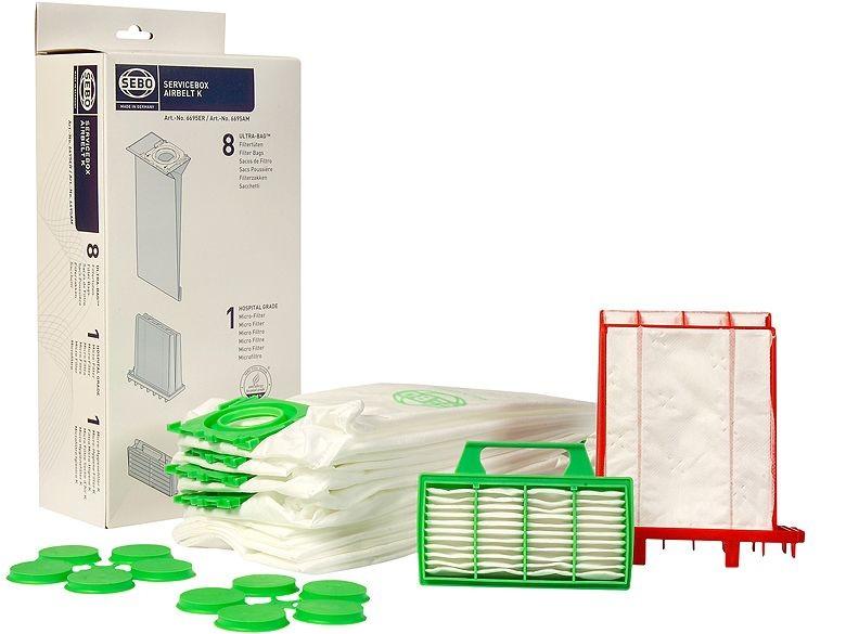 sebo 6695er servicebox filtert ten filter staubsaugerbeutel f r airbelt k staubsauger 6695 er. Black Bedroom Furniture Sets. Home Design Ideas