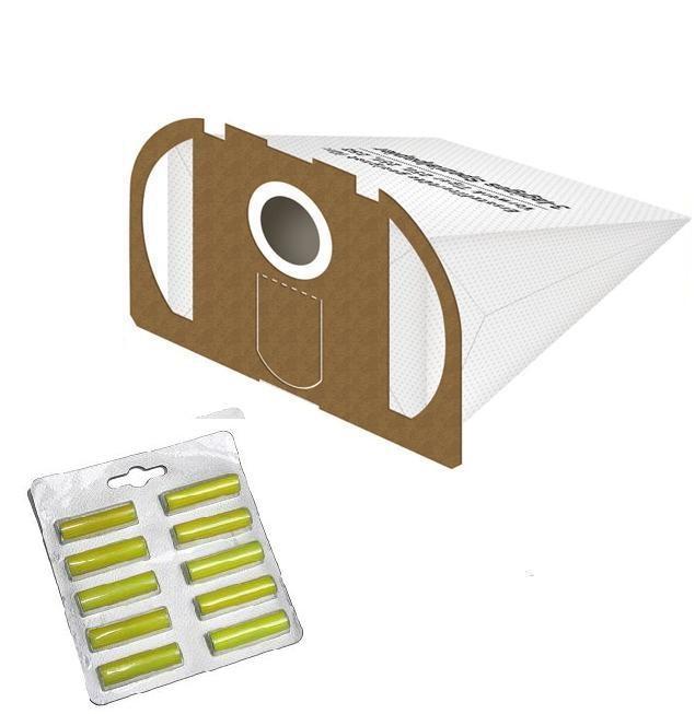 10 staubsaugerbeutel filtert ten geeignet f r vorwerk tiger 250 251 und 252 wei duft gelb. Black Bedroom Furniture Sets. Home Design Ideas