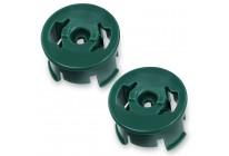 2 Stück Felge Radeinsatz Buchse (g) passend für Rad Vorwerk Kobold EB 351 Elektrobürste