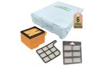 Staubsaugerbeutel + Filterset geeignet für Vorwerk Kobold VK 135 und VK 136