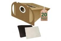 20 Staubsaugerbeutel Filtertüten geeignet für Vorwerk Tiger 250 251 und 252