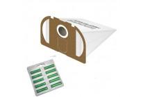 10 Staubsaugerbeutel Filtertüten geeignet für Vorwerk Tiger 250 251 und 252 - weiß - Duft grün