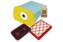 20 Staubsaugerbeutel + Hepa + Motorschutzfilter geeignet für Lux D820 Lux 1
