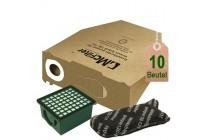 10 Staubsaugerbeutel Filtertüten und Filterset geeignet für Vorwerk Kobold VK 130 und VK 131
