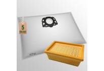 5 Stück Vlies Staubsaugerbeutel mit Filter passend für Kärcher MV 4 5 6 WD 4 5 6