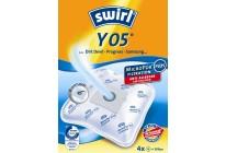 Swirl Y 05 Staubsaugerbeutel Filtertüten MicroPor - Inhalt 4 Stück + 1 Filter