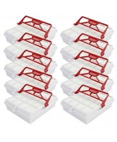 10 Stück Hepa Filter passend für Lux Electrolux Intelligence Hepa S 115 Carbon